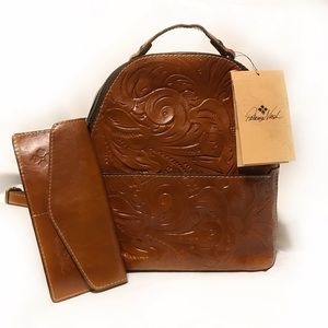 Patricia Nash Backpack Montioni Tooled Leather